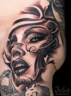 Thigh Tattoo 19