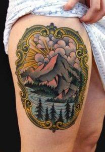 Thigh Tattoo 25