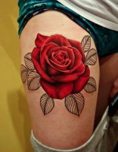 Thigh Tattoo 32