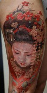 Thigh Tattoo 33