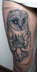 Thigh Tattoo 35