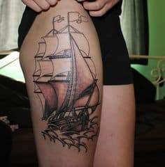 Thigh Tattoo 45