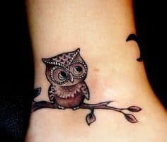 Ankle Tattoos for Girls 7