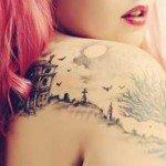 shoulder-tattoos-for-girls-32