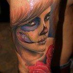 sugar-skull-tattoos-for-girls-53