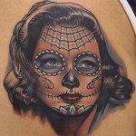 sugar-skull-tattoos-for-girls-9