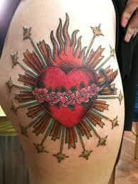 Sacred Heart Tattoo 26