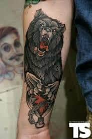 Bear tattoo 44 best artists top shops for Best tattoo shops in bakersfield ca