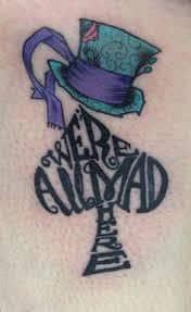 Alice in Wonderland Tattoos 27