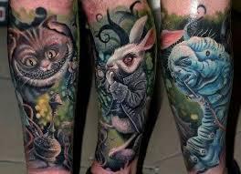 Alice in Wonderland Tattoos 32