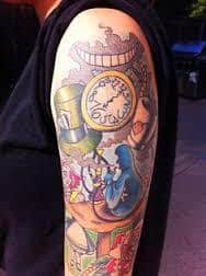 Alice in Wonderland Tattoos 37