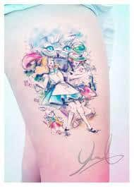 Alice in Wonderland Tattoos 41