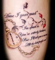 Alice in Wonderland Tattoos 7