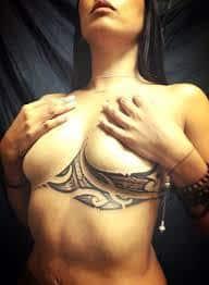 Breast Tattoos 14