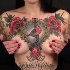 Breast Tattoos 21