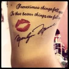 Marilyn Monroe Tattoos 42