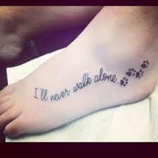 Paw Print Tattoos 17