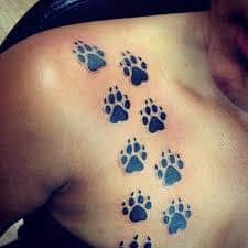 Paw Print Tattoos 42