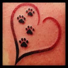 Paw Print Tattoos 50