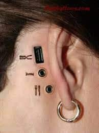 Ear Tattoos 52