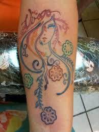Virgo Tattoos 8
