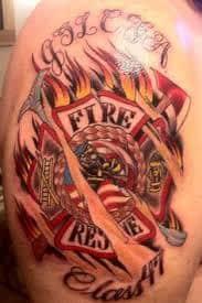 Firefighter Tattoos 24