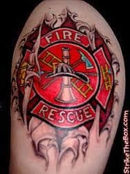 Firefighter tattoos 6 tattoo seo for Firefighter tattoos and meanings