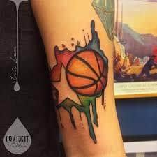 basketball tattoos ideas design meaning. Black Bedroom Furniture Sets. Home Design Ideas