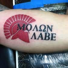 a7c791f00dfd6 What Does Molon Labe Tattoo Mean? | 45+ Ideas and Designs