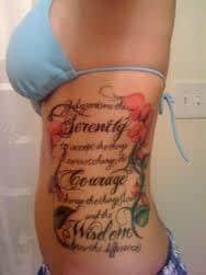Serenity Prayer Tattoos (47) – Tattoo SEO