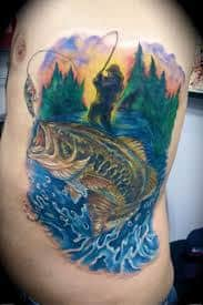 Fishing Tattoo Meaning Ideas amp Designs Fishing Pole