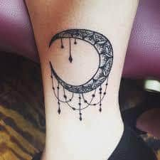 Crescent Moon Tattoo Meaning | Small Crescent Moon and ...