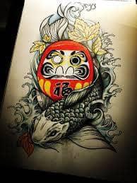 daruma doll tattoo meaning japanese daruma dall tattoo ideas. Black Bedroom Furniture Sets. Home Design Ideas