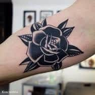 Black Rose Tattoo Meaning 46