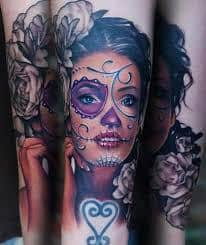 What Does Day Of The Dead Tattoo Mean Represent Symbolism