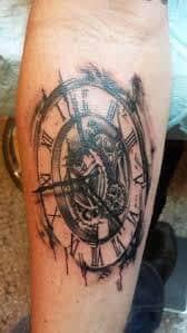 melting clock tattoo meaning 1. Black Bedroom Furniture Sets. Home Design Ideas