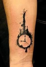 melting clock tattoo meaning salvador dali melting clock designs. Black Bedroom Furniture Sets. Home Design Ideas