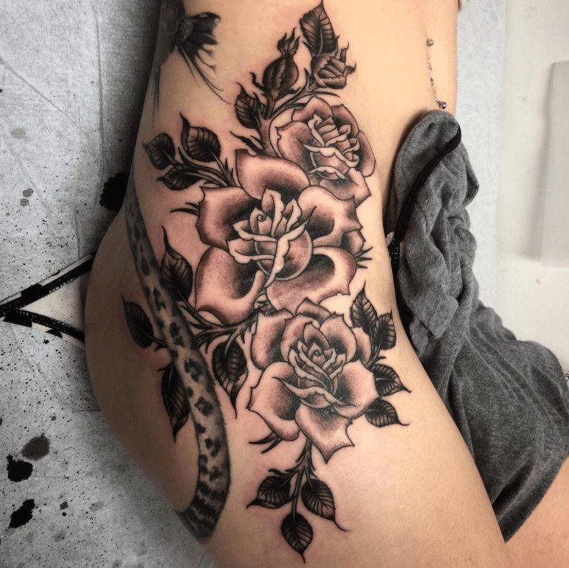 25 best floral tattoo artists top shops studios for Tattoo shops anderson indiana