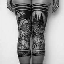 Leg Tattoos 21