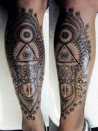 Leg Tattoos 23