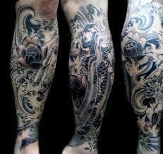 Leg Tattoos 46