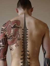 Spine Tattoos 34