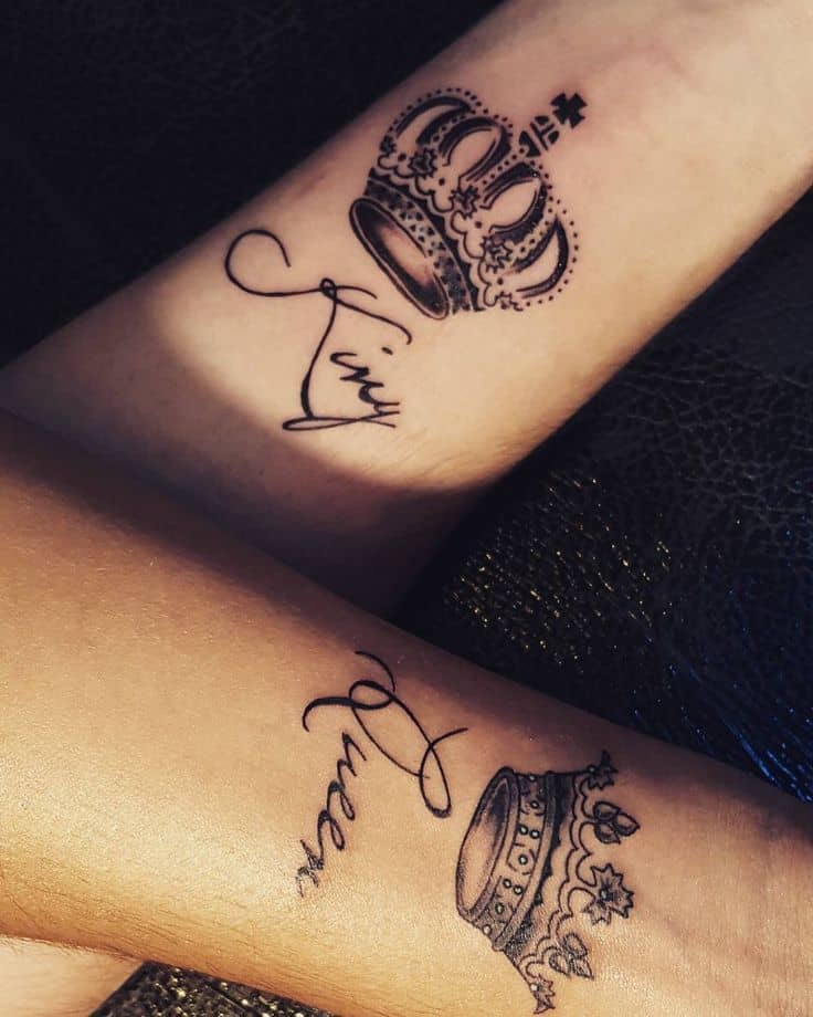 27+ Crown Tattoo Designs, Trends, Ideas | Design Trends ... |King And Queen Crown Tattoo Designs