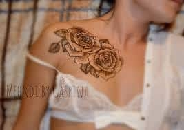 Collar Bone Tattoo 33