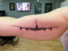 airplane tattoo 34 tattoo seo. Black Bedroom Furniture Sets. Home Design Ideas
