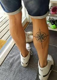 Calf Tattoo 14