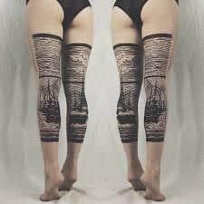 Calf Tattoo 30