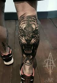 Calf Tattoo 37