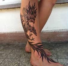 Calf Tattoo 47