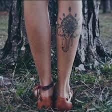 Calf Tattoo 59